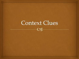 Context Clues - Book Units Teacher