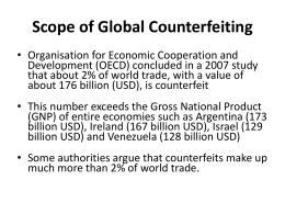 Scope of Global Counterfeiting