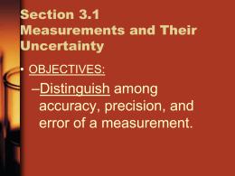 Chapter 3 Scientific Measurement