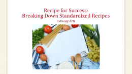 PowerPoint - Recipe for Success