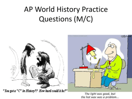 Review Questions PPT - Mrs. Thiessen`s Social Studies Classes