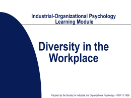 SIOP-Industrial-Organizational Psychology Learning Segment