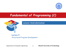 Lecture5 - Department of Computer Engineering