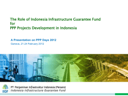 IIGF*s Role to Support Acceleration of Indonesia