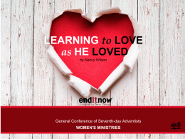 Sermon powerpoint - Women`s Ministries