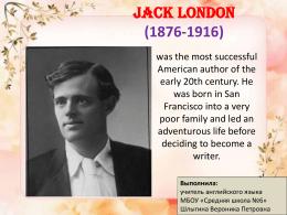 Jack London as a writer