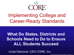 Implementing College and Career-Ready Standards