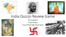 India Quizzo Review Game