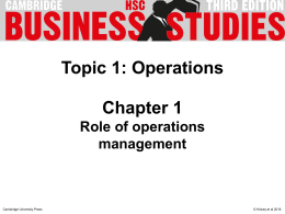 PowerPoint: Chapter 1 - Cambridge University Press