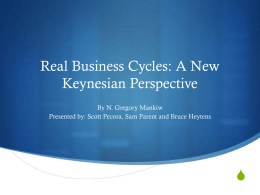 Real Business Cycles: A New Keynesian Persective
