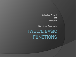12 Basic Functions Powerpoint