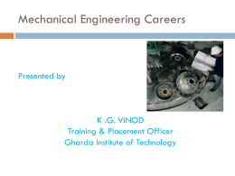 Mechanical Engineering Careers - git
