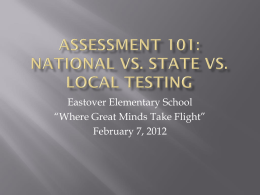 Assessment 101: National vs. State vs. local