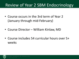 SBM Endocrinology Course Review