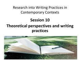 Theoretical perspectives and writing practices File