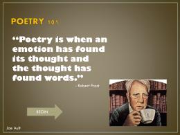 Key Poetic Elements