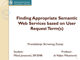 Milos Jovanovic 09-3048 semantic search agent