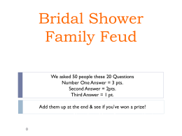 Bridal Shower Family Feud