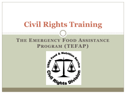 Civil Rights Training - Central Pennsylvania Food Bank