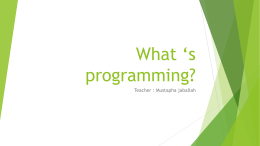 What*s a program?