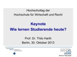 Prof. Dr. Thilo Harth