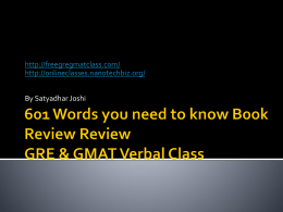 601 Words you need to know Review