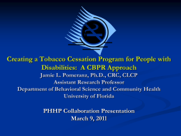 Collaboration Presentation - Department of Behavioral Science and