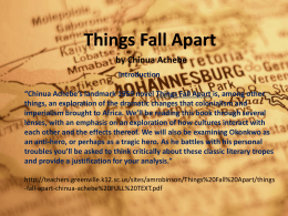 Things_Fall_Apart_While_reading_project