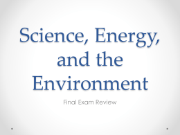 Science, Energy, and the Environment