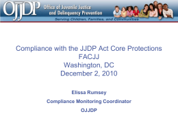 Compliance with the JJDP Act Core