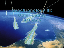 Chapter 4. Geochronology III: Cosmogenic and Fission Track Dating