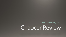 Chaucer Review - NordoniaEnglish12CP