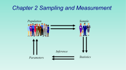 Chapter 2 Sampling and Measurement