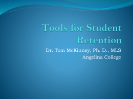 Tools for Student Retention