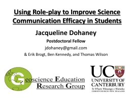 Science Communication: *Best Practices