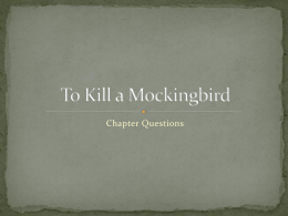 To Kill a Mockingbird - Greer Middle College