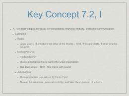 APUSH Review: Key Concept 7.2