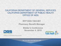 California department of general services