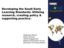 Developing the Saudi Early Learning Standards