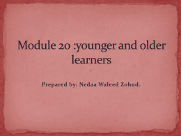 Young and Older Learners - E-Learning/An