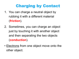 Handout: Charging Objects by CONDUCTION