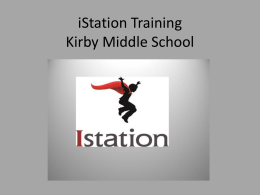 iStation Training Kirby Middle School