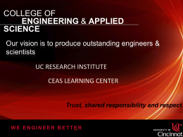 Graduate Studies - College of Engineering and Applied Science
