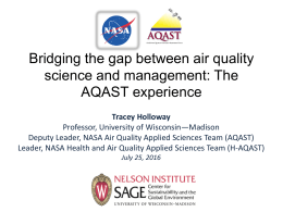 Bridging the gap between air quality science and management