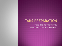 taks preparation - PLC-METS