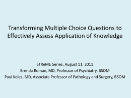 PPT Presentation: Transforming Multiple Choice Questions to