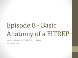 Basic Anatomy of a FITREP - Navy Medical Corps Career Blog