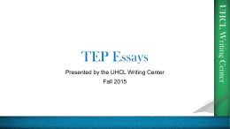 TEP Essay writing
