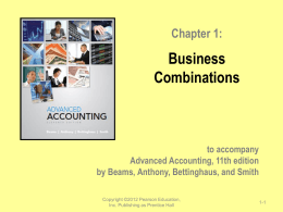 Chapter 1: Business Combinations
