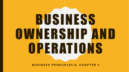 Chapter 6 Power Point-Ownership